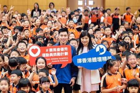 Hong Kong athletes shared their stories as full-time athletes with students at community engagement programmes.