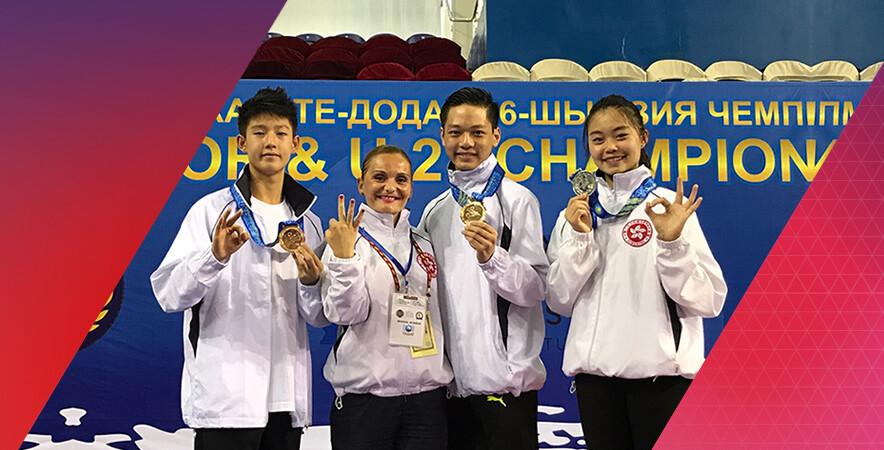 Hong Kong Karatedo team finished with 4 medals at the 14th AKF Senior Championships cum 16th AKF Cadet, Junior & U21 Championships.