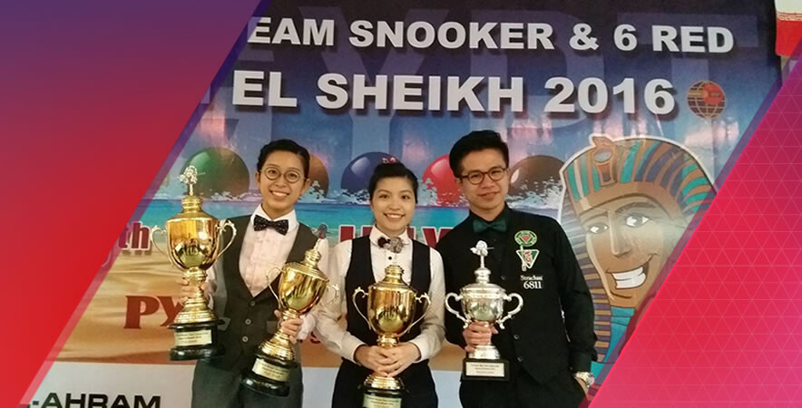Hong Kong Billiards Pairs captured another world championships title and Chau Hon-man made his personal best at IBSF World Team and 6 Red Championships 2016.