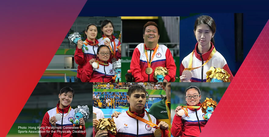 The Hong Kong team ended the journey with 6 medals in total at Rio 2016 Paralympics.