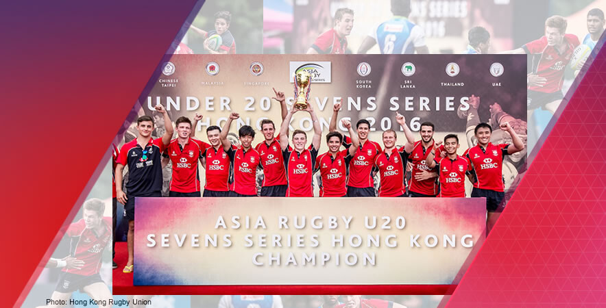 The junior men's rugby team won with 3rd podium finish at Asia Rugby U20 Sevens Series champions.