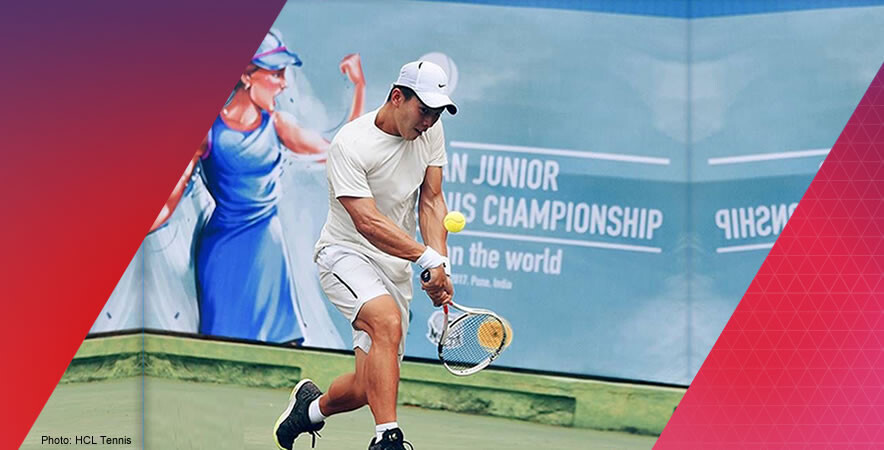 The Hong Kong boys junior tennis duo Denton Ho and Lam Ching clinched a bronze medal at the HCL Asian Junior Tennis Championships 2017.