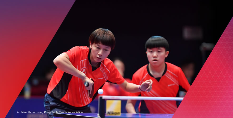 The Hong Kong table tennis girls' junior pair firstly captured a gold medal in junior doubles at the 2016 Asian Junior & Cadet Table Tennis Championships.