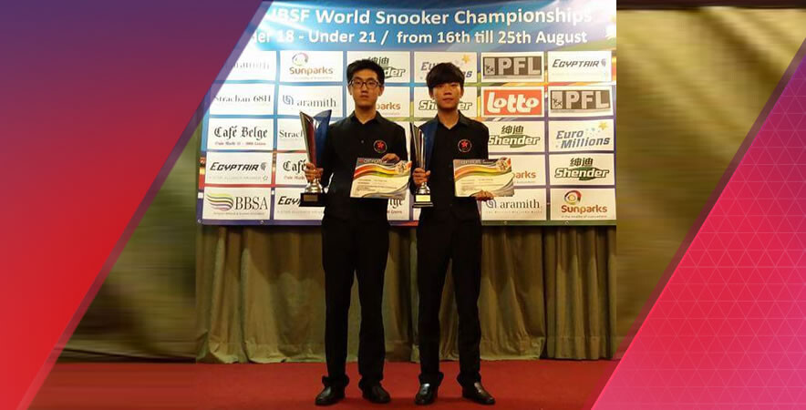 Hong Kong billiards Juniors Tam Yun-fung clinched a silver medal in IBSF World Under-18 snooker championship while Cheung Ka-wai finished with 3rd place in U21 category.