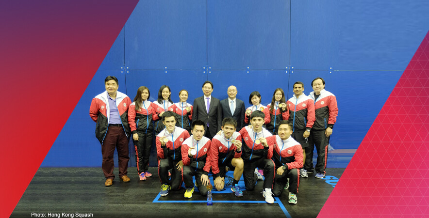 The men's and women's squash teams won silver and bronze medal at the Asian Squash Team Championships 2016.