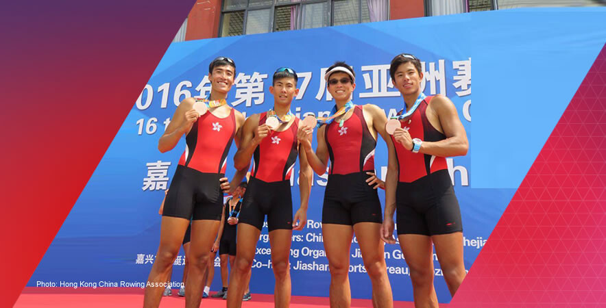 The Hong Kong Rowing team took 3 silver and 3 bronze medals with 6 in total at the 2016 Asian Rowing Championships 2016.