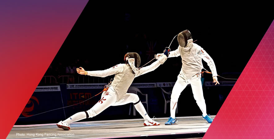 Fencer Cheung Ka-long made history by winning the first gold medal in the men's foil at the 2016  Asian Fencing Championships.