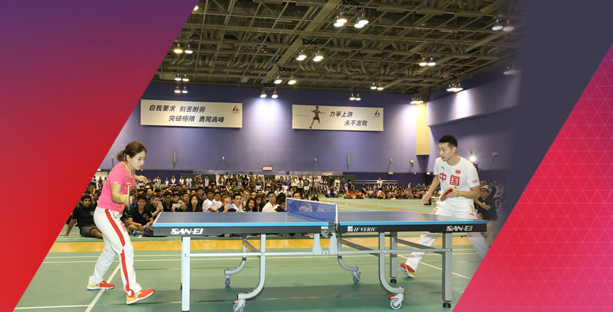 The Visit of the Rio Olympic Games Mainland Olympians Delegation - Olympians Exchange with Future Sports Stars at HKSI took place on 29 August.