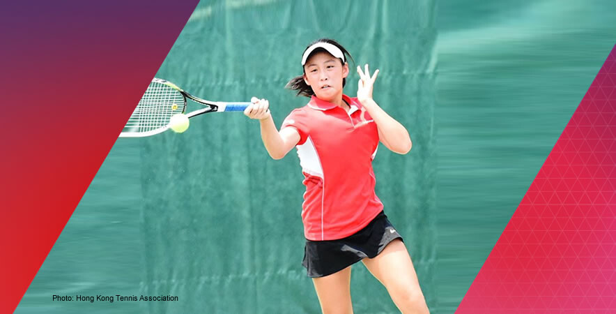 The Hong Kong tennis U14 girls' team claimed 1st place at the World Junior Tennis Asia/Oceania Qualifying
