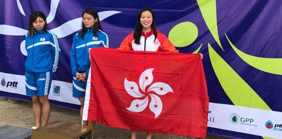 Wong Cho-ying took two bronze at the Asian Open Water Swimming Champions in Thailand