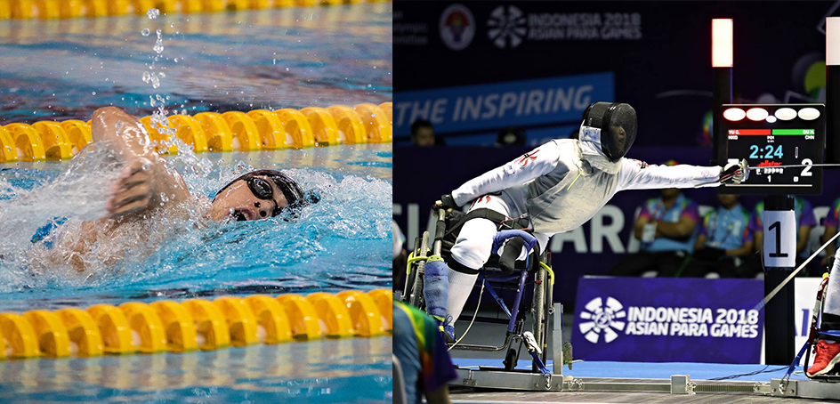 Hong Kong won 2 gold, 1 silver and 2 bronze in swimming and wheelchair fencing on the second day of competition.