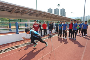 The HKSI arranged guided tours and fitness tests for teachers and