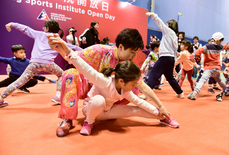 <p>Participants experienced Wushu under the guidance of Wushu athlete Liu Xuxu.</p>