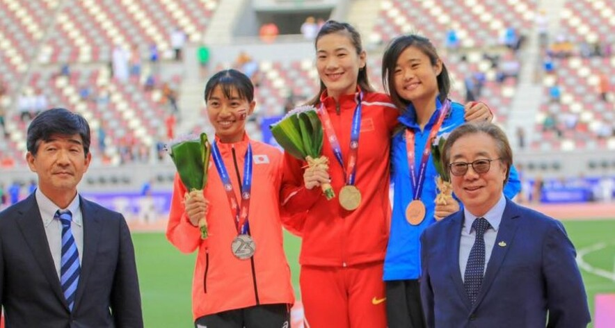 Second from right: Yue Ya-Xin (Photo: Hong Kong Amateur Athletic